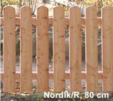 """Lärchenzaunelemente """"Nordik"""""""